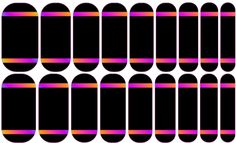 Black Rainbow Stripe --- My custom Jamberry NAS design. If interested message me. $25 a sheet (includes the setup fee)