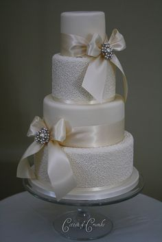 1st wedding cake of the year by Cotton and Crumbs, via Flickr
