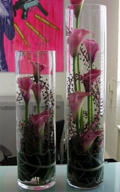 Valentine's Day Crafts Romantic Flowers, Beautiful Flowers, Calla Lillies, Birthday Flower Arrangements, Vase Flower Arrangements, Calla Lily Centerpieces, Centrepieces, Winter Flowers, Summer Flowers