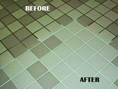 Green Tile Grout Cleaner Green Spring Cleaning Recipe for the Grout :) 7 cups water, cup baking soda, cup lemon juice and cup vinegar - throw in a spray bottle and spray your floor, let it sit for a minute or two. then scrub : Household Cleaning Tips, Cleaning Recipes, Cleaning Hacks, Floor Cleaning, Green Cleaning, Cleaning Supplies, Cleaning Spray, Household Cleaners, Cleaning Items