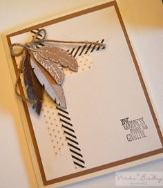 stampin up card, four feathers stamps, bird builder, natural card2.DSC_0192
