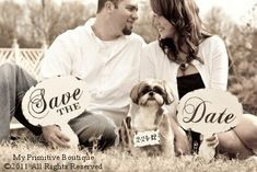 Save the Date Signs with Dog Sign. Rustic Save the Date Sign. Save the Date Cards. Engagement Photo Props, Engagement Pictures, Engagement Photography, Wedding Engagement, Wedding Photography, Engagement Ideas, Wedding Pics, Our Wedding, Dream Wedding