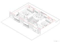 Biblioteca Pública de Constitución,Diagrama