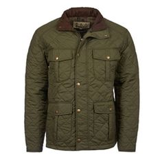 New for 2016 Barbour Explorer Quilted Jacket - Mid Olive