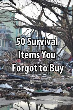 Even hardcore survivalists can overlook things. In this post I want to mention 50 survival items that you might have forgotten to buy.