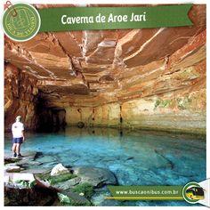 Caverna de Aroe Jari #imperdivel www.buscaonibus.com.br/destinos/mt/cuiaba Localizada a 46 km da cidade de Chapada dos Guimarães, Aroe Jari é a maior caverna de arenito do Brasil. São inúmeras cachoeiras espalhadas nos 1.550 metros da caverna. Imperdível a visita na Lagoa Azul, uma piscina natural de água cristalina.