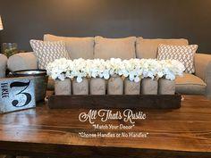 Large Mason Jars, Ball Mason Jars, Painted Mason Jars, Mason Jar Centerpieces, Rustic Centerpieces, Table Decorations, Rustic Decor, Farmhouse Decor, Farmhouse Table