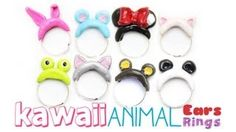 kawaii animal ring polymer