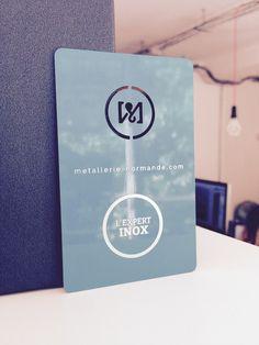 La Metallerie Normande Ne Fait Pas Que Des Pieces En Metal Sur Mesure Elle A Aussi Superbes Cartes De Visite Ironcards Design