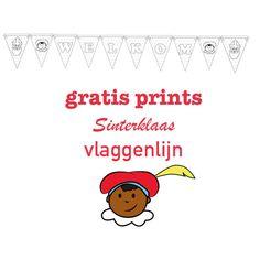 Een leuke vlaggenlijn voor Sinterklaas knutselen met deze gratis print