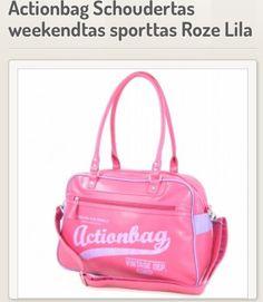 Actionbag schoudertas Roze/Lila. NU voor €39.95.
