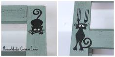 Manualidades Caseras Inma _atril decorado con gatos detalles
