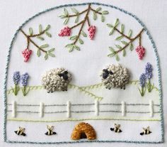 Stitch these two cute, fluffy sheep! This pattern pack contains the pattern and full instructions including stitch instructions. The pattern can be stitch with or without the padding. Thanks for visiting The Floss Box on Etsy Embroidery Needles, Silk Ribbon Embroidery, Crewel Embroidery, Embroidery Applique, Cross Stitch Embroidery, Embroidery Patterns, Embroidery Store, Brazilian Embroidery, Embroidery Techniques