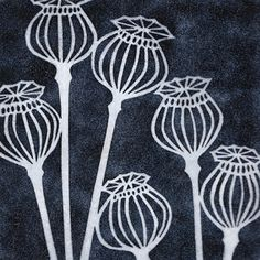 yellow house art licensing - artists - H I J K - black poppy seedheads Doodle Drawing, Doodle Art, Linoprint, Sgraffito, Art Graphique, Linocut Prints, Textile Art, Flower Art, Printmaking