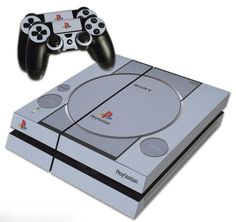 PS4 Skin EXCLUSIVE Grey Retro Playstation One by TheBluRaymondo