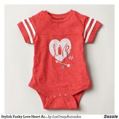 Stylish Funky Love Heart Arrows Kid Bodysuit