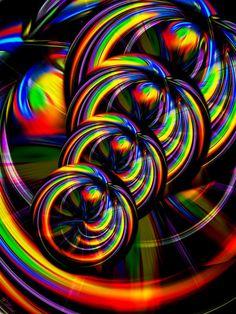 'Creations in the color spectrum of the rainbow 1' von Walter Zettl bei artflakes.com als Poster oder Kunstdruck $22.17