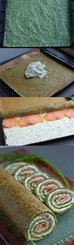 rolada szpinakowa z łososiem krok po kroku