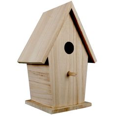 Apply your inspiration to this unique decorative birdhouse. Use colorful paints to decorate...