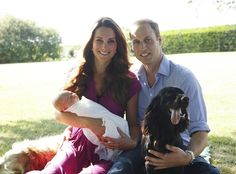 What an adorable family! See Prince William and Kate Middleton with their son Prince George in new family pics.