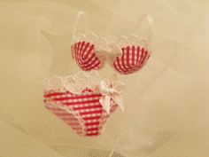 dollhouse miniatures Bra with panties in 1:12 by Mondinadollhouse