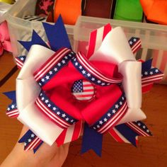 Forth of July/memorial day bow.