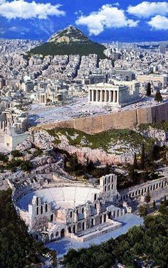 GRECIA Herodes Atticus Theater, The Parthenon and Lycabettus Hill ~ This is Athens Places To Travel, Places To See, Travel Local, Travel Destinations, Greece Destinations, Greek Cruise, Wonderful Places, Beautiful Places, Voyage Europe