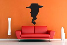 Woody Silhoutte  Wall Vinyl  Large by WallsOfText on Etsy, $20.95