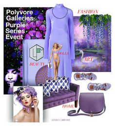 """""""The Polyvore Galleries Purple Series Event Dedicated to Prince"""" by linda-caricofe ❤ liked on Polyvore featuring La Parfumerie Moderne, HomePop, John Robshaw, Vetements, N'Damus and Alberta Ferretti"""