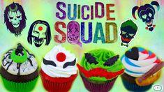 Todo el equipo del escuadron suicida en cupcakes especiales. All equipment suicide squad in special cupcakes.