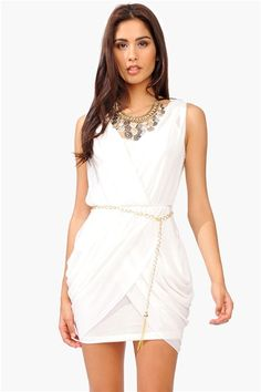 All Chained Up Dress - Ivory