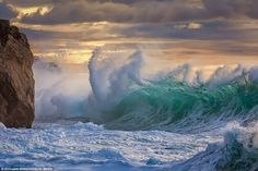 Stunning: The images were taken by Italian photographer Giovanni Allievi, 44, on a trip to Savona in Italy