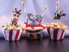 Zoo Party Cupcakes f