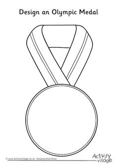 Design an Olympic Medal More olympic games Kids Olympics, Winter Olympics, Special Olympics, Theme Sport, Olympic Idea, Olympic Games Kids, Winter Olympic Games, Olympic Crafts, Olympic Medals