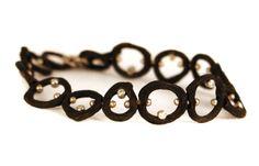 Steel Pebble Link Bracelet With .30 Ct Diamonds  Sarah Graham