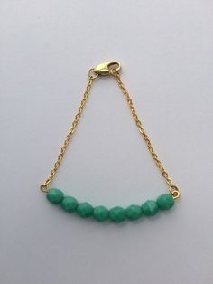 A personal favorite from my Etsy shop https://www.etsy.com/listing/234454635/turquoise-bead-bar-bracelet