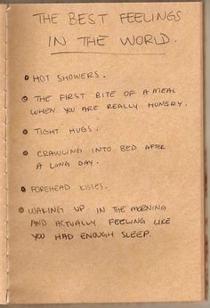 Agreed. The best feelings in the world!