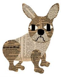 frenchie paste collage