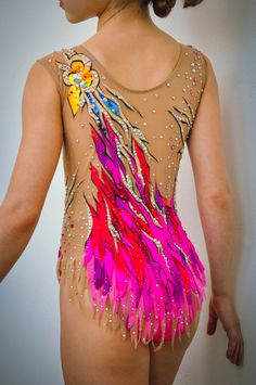 Competition Rhythmic Gymnastics Leotard by iiuliia on Etsy