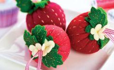 Strawberry Pincushion Template - Free Card Making Downloads | Stitching | Digital Craft – Crafts Beautiful Magazine