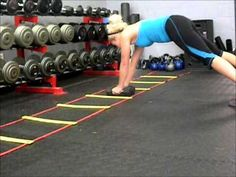 Agility Ladder - Pushups & Mountain Clumbers