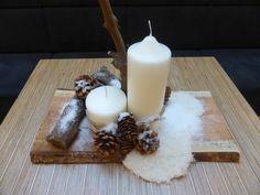 Tafeldecoratie Pillar Candles, Diy, Winter, Winter Time, Bricolage, Do It Yourself, Homemade, Diys, Candles