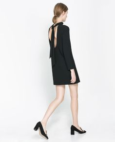 Image 1 of DRESS WITH BOW AT THE BACK from Zara