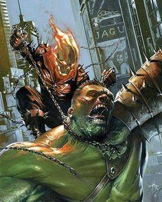 "1,489 mentions J'aime, 13 commentaires - Marvel Comics Addict (@marvelcomicsaddict) sur Instagram : ""Ghost Rider vs The Hulk. • #ghostrider #hulk #brucebanner #incrediblehulk #marvel #marvelcomics…"""