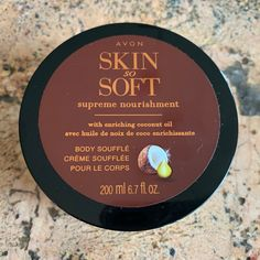 Avon Skin So Soft Coconut Oil Supreme Nourishment Body Souffle, Avon Skin So Soft, Oil Light, Avon Online, Natural Oils, Cleanse, Creme, Coconut Oil, Lotion