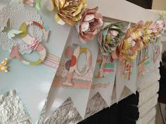 Cricut Giant Flowers banner made with @beauthentique