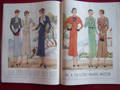 McCall's magazine, August 1932 featuring McCall 7037, 7027 and 7024 on the left page, 7018, 7038 and 7021 on the right page
