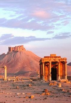 Site of Palmyra, Syria... My heart breaks knowing what is happening over there right now.