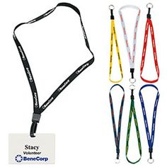 1/2-Inch Lanyard with Key Ring. Keep staff badges secure and visible. Let us source and imprint that perfect Promotional item or Gift  for your Business. Get a Free Consultation here:  http://www.promotion-specialists.com/contact-us/get-a-free-consultation/