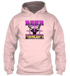 Deer Hunter   Hunting Bullseye T Shirt  Light Pink Sweatshirt Front
